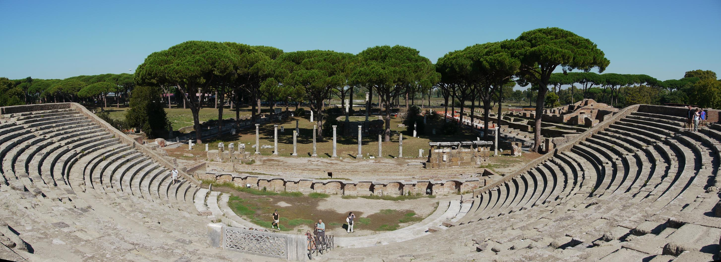 Roman theatre at Ostia Antica, the ancient Roman seaport near Rome