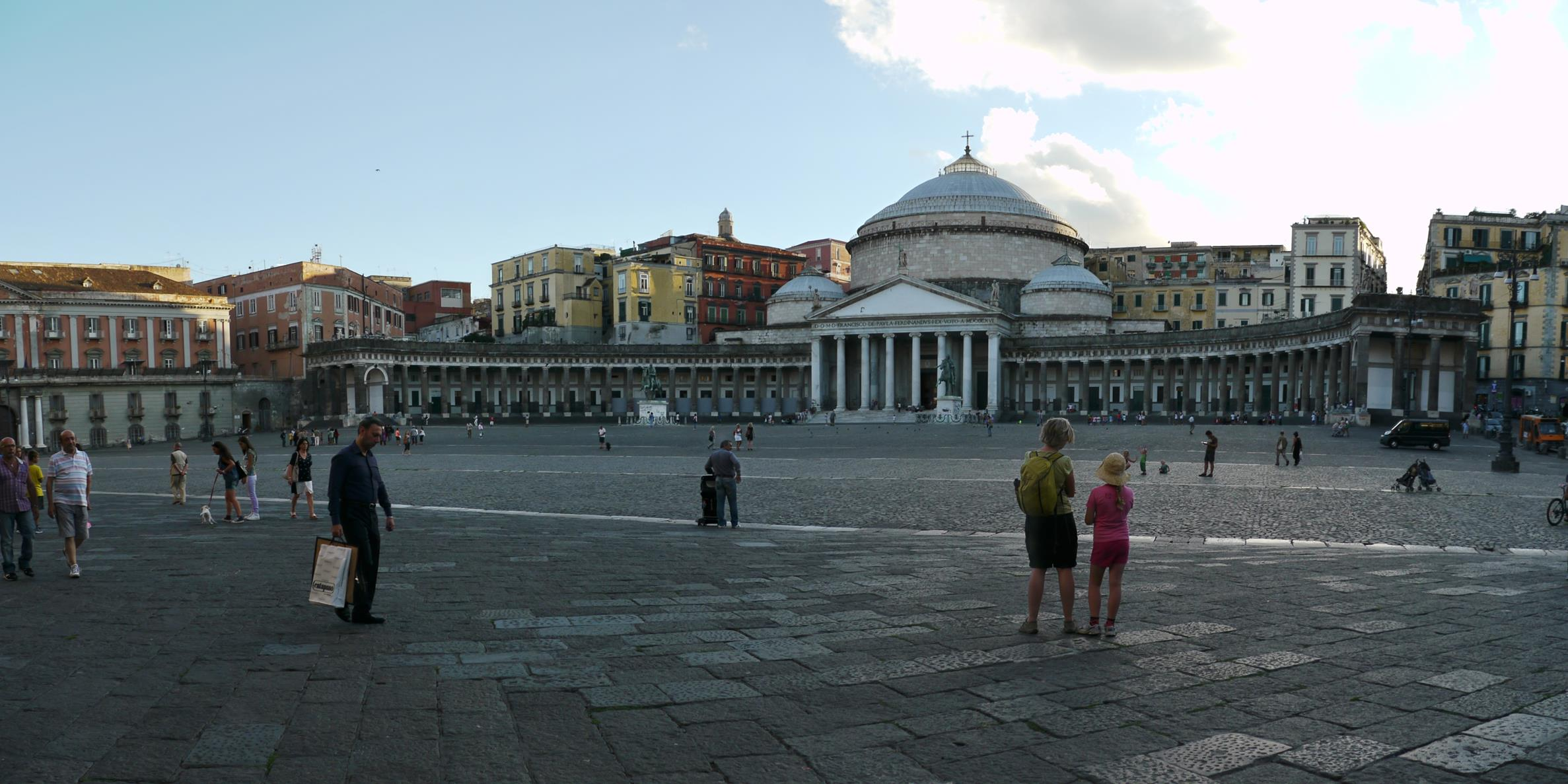 With only one hour in Naples, we visited Piazza del Plebiscito, a respite from crazy Naples traffic