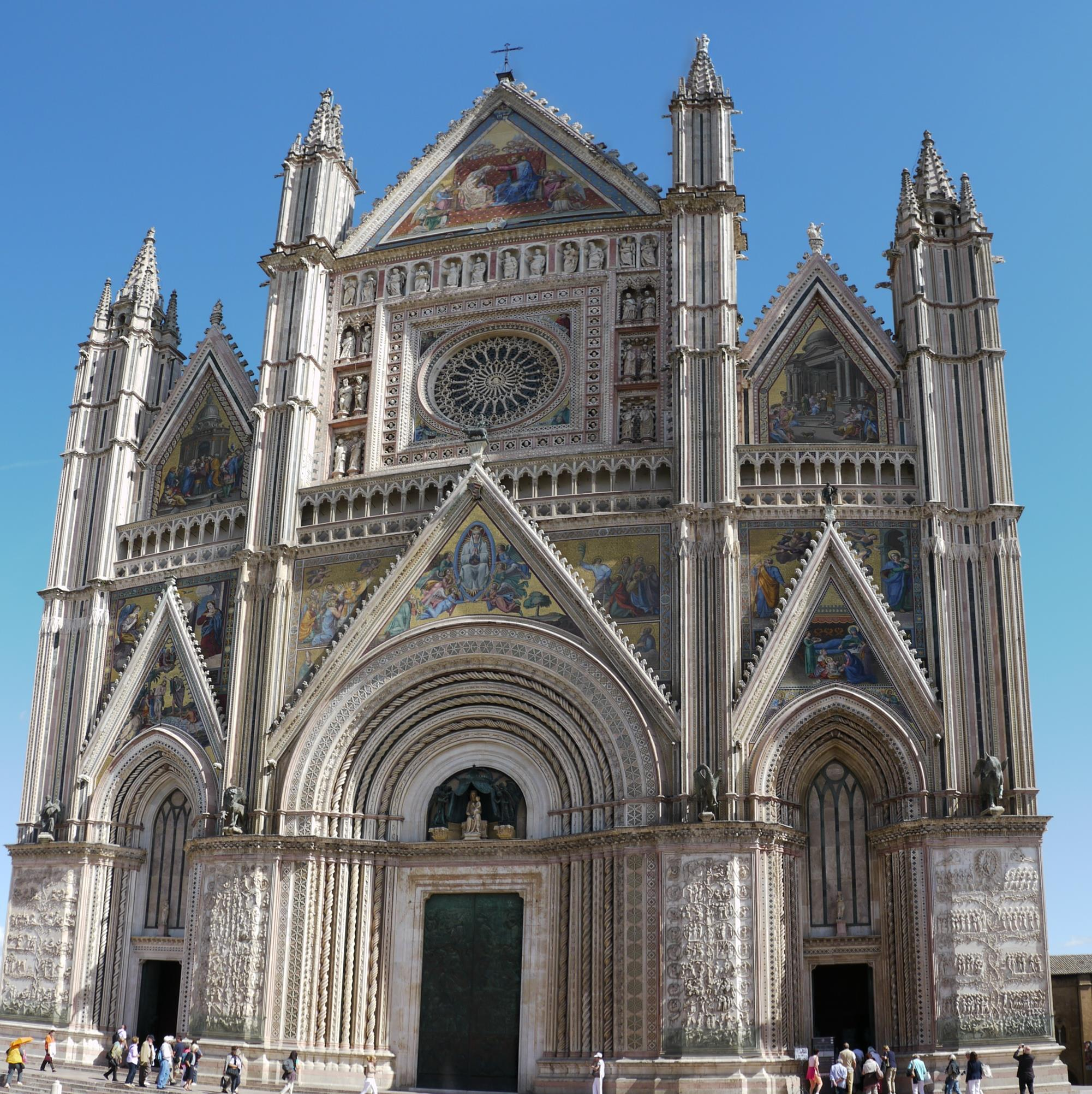 The Cathedral of Orvieto, a stunning city with a rich history