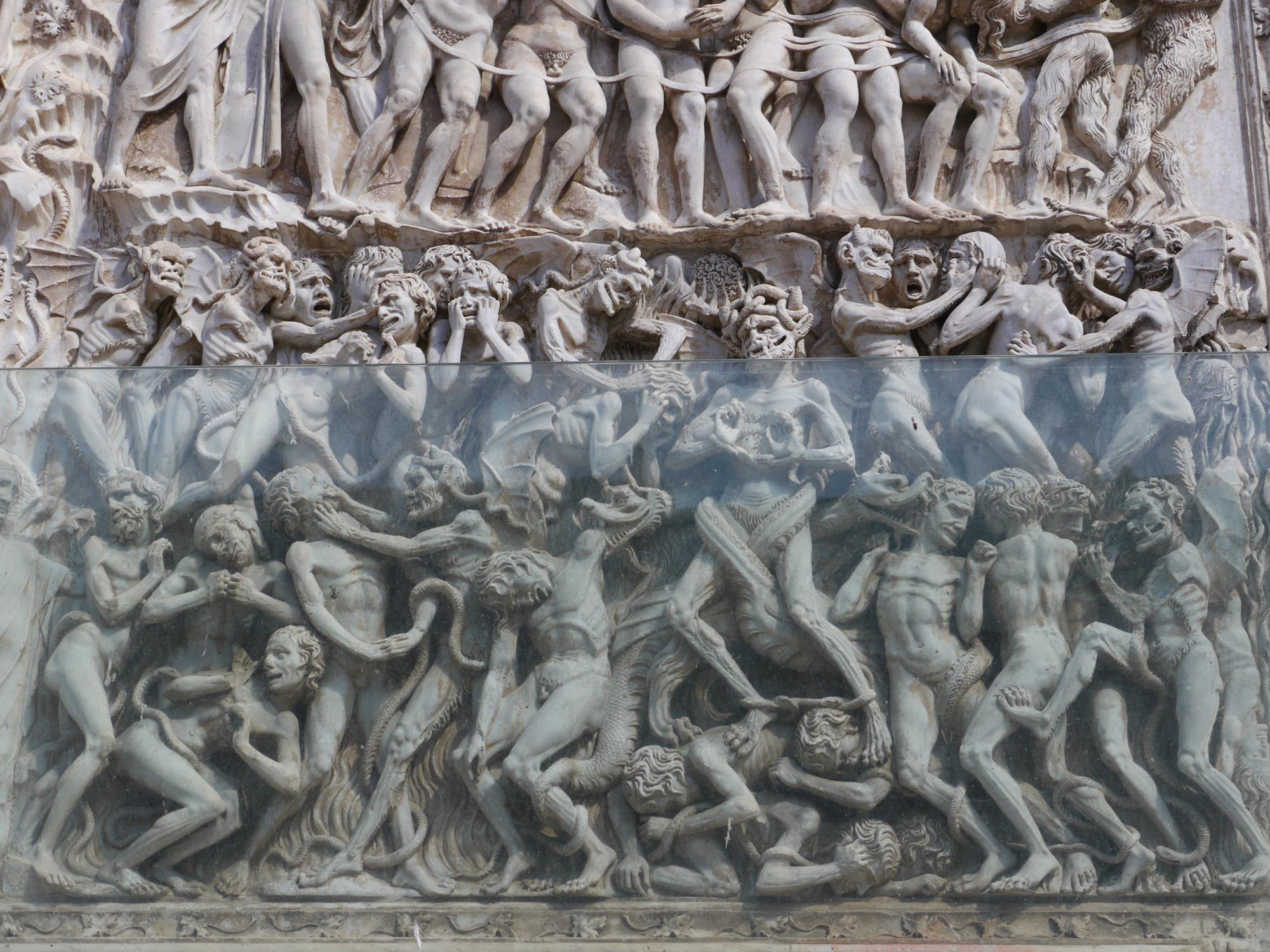 Hellish scenes on the Orvieto Cathedral facade
